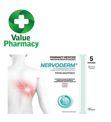 Nervoderm Medicated Patches 10 X 14 Cm 5 Pack  Nerve Pain Relief Patch