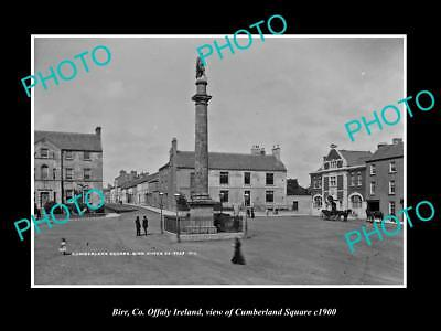 OLD LARGE HISTORIC PHOTO OF BIRR Co OFFALY IRELAND, VIEW OF CUMBERLAND SQ 1900 2