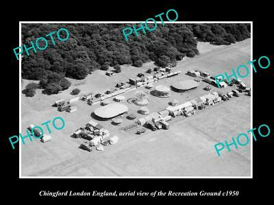OLD LARGE HISTORIC PHOTO CHINGFORD LONDON ENGLAND, THE RECREATION GROUND c1950