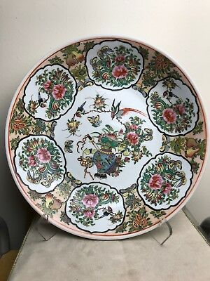 Chinese Famille Rose Charger Plate 14
