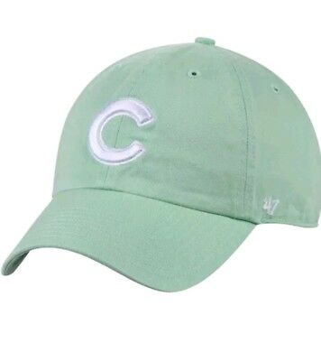 666dd526d8233 Nwt  47 Chicago Cubs Green C Big Logo Clean Up Adjustable Hat Dad Slouch