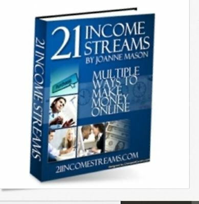 21 Income Streams PDF eBook Master Resell Rights Make $$$ Money $ FREE SHIPPING