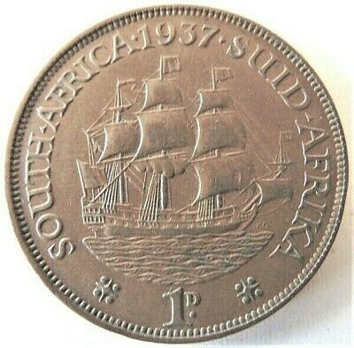 1937 SOUTH AFRICA, GEORGE VI,  Penny grading VERY FINE.
