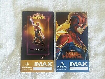 Captain Marvel Collectible Week 1 & 2 Regal IMAX Ticket Brie Larson Poster Code