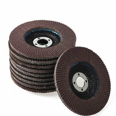 "10x Flap Discs 100mm "" Sanding Strong Sturdy Grinding Wheels Angle Grinder UK"