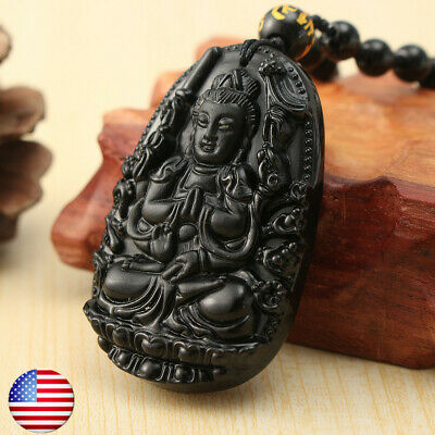 Mesmerizing Chinese carving black A Natural Obsidian carved dragon pendant