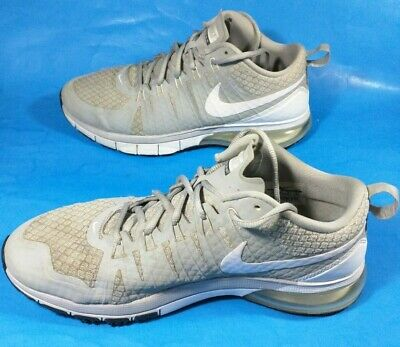 separation shoes 6199a a07b1 Nike FLYWIRE AIR MAX TR1 180 Gray White Training Running Low Top Shoes- Size