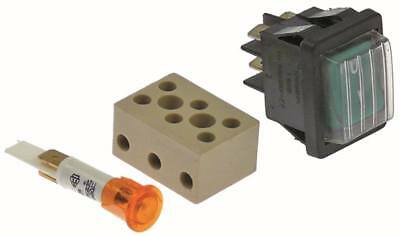 Spare Part Kit for Heating Cabinet Rocker Switch Screw Terminal Signal Lamp