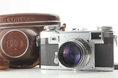 【Exc+++++】 Carl Zeiss Ikon Contax IIa Camera w/ 50mm F/1.5 Sonnar lens JAPAN 332