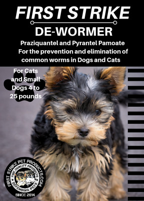 Dewormer for cats and Small Dogs 4 to 35 pounds broad spectrum 3 Capsules