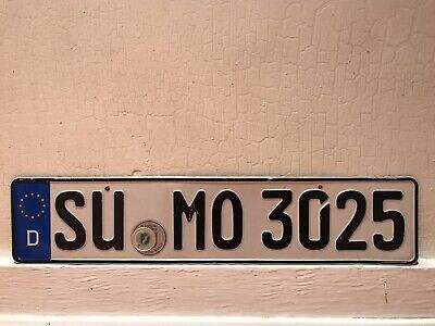 european German license plate tag for bmw audi porsche mercedes vw