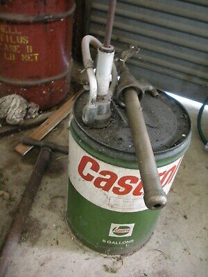 Castrol 5 Gallon oil drum with two pump fittings