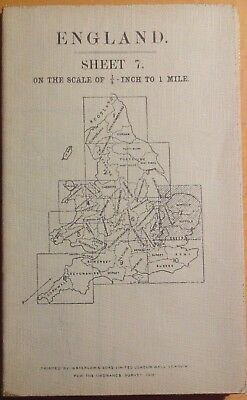 "OS Map 1/4"" to 1 Mile Large Sheet Series Second Ed Sheet 7 East Anglia"