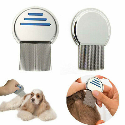 Hair lice comb brushes terminator egg dust nit free removal Stainless Steel