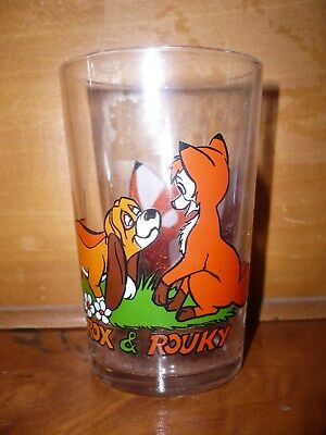Verre à Moutarde Rox et Rouky (The Fox and the Hound) n°3 variante image inversé