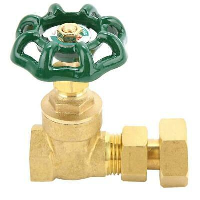 """1/2"""" DN15 Forged Brass Threaded Manual Gate Water Oil Gas Copper Valves Sturdy"""