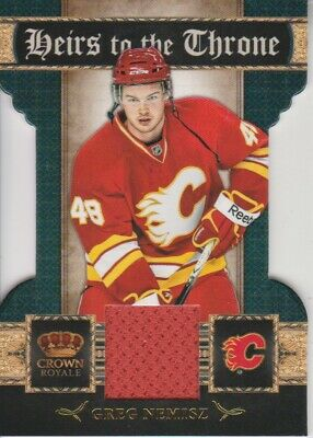 2011-12 Crown Royale Heirs To The Throne Materials Greg Nemisz - Flames