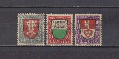 Switzerland / Suisse- Helvetia- 1919 - Pro.juventut- Complete Set Of 3 (2 Scans)