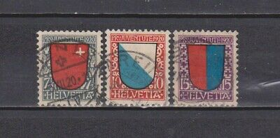 Switzerland / Suisse- Helvetia- 1920 - Pro.juventut- Complete Set Of 3 (2 Scans)