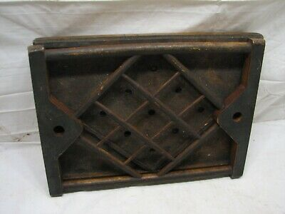 Antique Wooden Hand Made Marble Tic Tac Toe Game Toy Folk Art