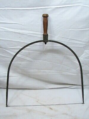 Antique counrty store Hand Forged Wire Cheese Slicer Tester Tool Iron Primitive