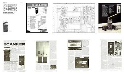 SONY PRO-80 COPY OWNERS + SERVICE MANUALS + HQ CATALOG PHOTO + 11x17
