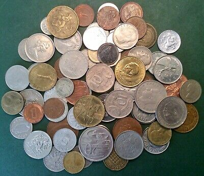 Bulk Lot Of 70+ Unsorted UK, European And World Coins. Great Starter Set.