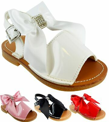Infants Girls Kids Casual Peep Toe Spanish Style Party Summer Sandals Shoes Size