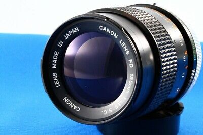 """Canon FD 135mm f/3.5 SC MF Lens """"Exc++"""" From Japan#1224"""
