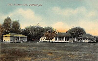 Ottumwa Iowa~Acmegraph Postcard #3894 Country Club Clubhouse & Grounds c1908