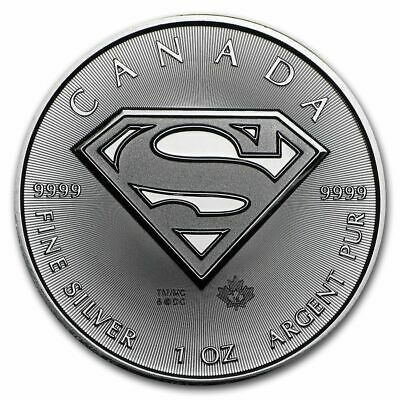 2016 Superman silver coin Canada 1oz pure 9999