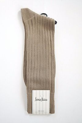 NEIMAN MARCUS Taupe Cotton Blend Socks 9-11 Made in ITALY