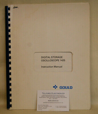 Gould 1425 Digital Storage Oscilloscope Instruction Manual - Original