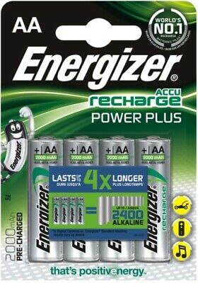 4 x Energizer R6 / AA Ni-MH 2000mAh Power Plus ACCU Rechargeable batteries