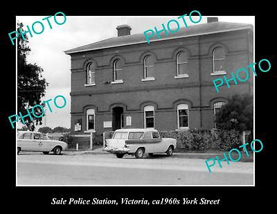 OLD LARGE HISTORIC PHOTO OF THE SALE POLICE STATION, c1960s VICTORIA