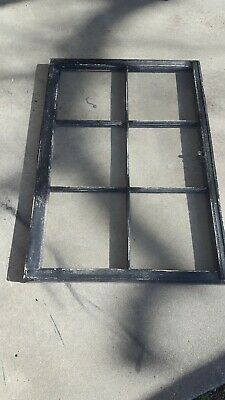 Vintage Sash Antique Wood Window Frame Pinterest Rustic 36X23 Distressed Black