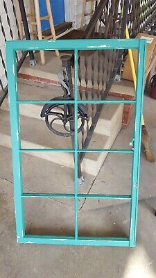 Vintage Sash Antique Wood Window Frame Pinterest Rustic Country Teal 8 Pane