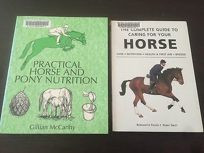 """""""Practical Horse and Pony Nutrition"""", """"Complete Guide To Caring For Your Horse"""""""