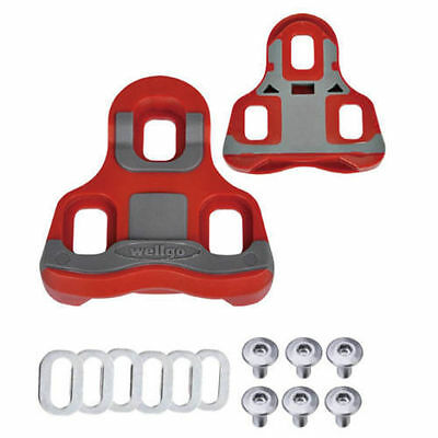 New Wellgo RC-713 Road Bike Clipless Pedals with Cleats 98A US Seller Red
