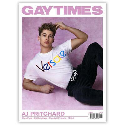 GAY TIMES #493 2019 - AJ PRITCHARD (3 alternative covers available)
