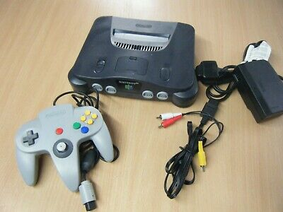Retro Nintendo 64 Bundle Console Controller And Leads Tested