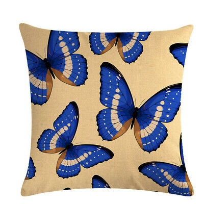 Butterfly Printed Sofa Car Throw Cushion Pillow Cover Case Home Decor Gifts 6A