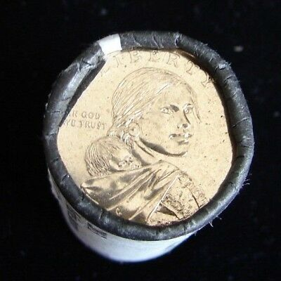 2013 - D Native American Sacagawea Roll Of One Dollar Coins =  25 Coins Total