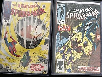 Amazing Spider-Man #61 #265 Marvel Comics 1st Gwen Stacy Cover 1st Silver Sable