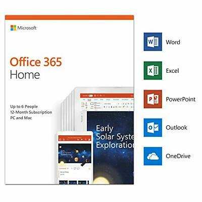 Microsoft Office 365 Home - New Full Version -  6 User's PC or Mac Download UK