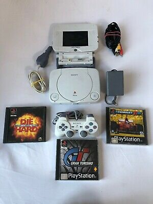 Sony PSONE PS1 Playstation Slim Console Tested Official Pad Joytech Screen