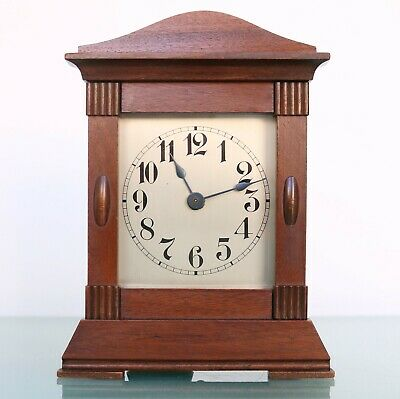 Antique Junghans Mantel Clock STRIKING Chime 1910s TOP Condition SERVICED German