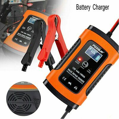 12v Automatic Electronic Intelligent Smart Fast Battery Charger Car Motorbike 6A