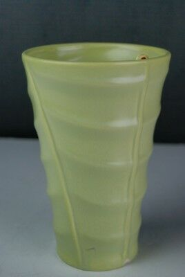 """Bauer Los Angeles Pottery Vase, Lime Green, 7.75"""" Tall"""