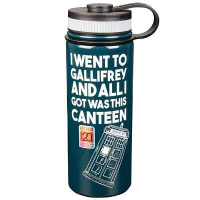 """Doctor Who TARDIS """"I Went To Gallifrey..."""" 18oz Stainless Steel Water Bottle"""